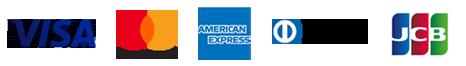 利用可能なクレジットカード会社ロゴ
