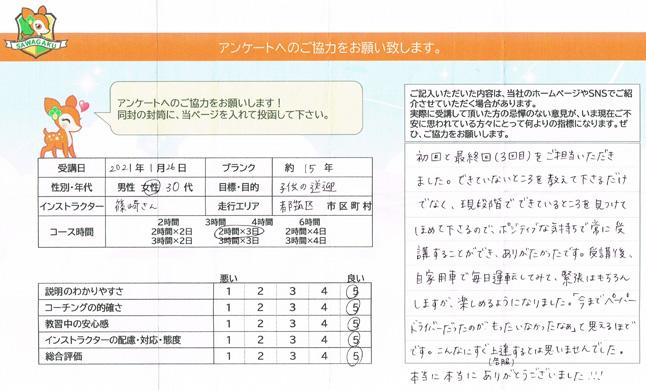 横浜市都筑区 30代女性 お客様アンケート